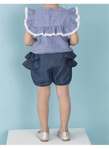 Ollie & olla Fırfırlı Kız Balon Şort Lacivert